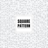Abstrakcjonistyczni biali i szarzy kwadraty deseniują tło teksturę Geometryczny styl Mozaiki siatka ilustracja wektor