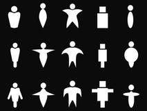 Abstrakcjonistyczni biali ludzie symboli/lów ilustracja wektor
