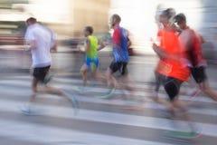 Abstrakcjonistyczni biegacze z plamą Zdjęcia Stock