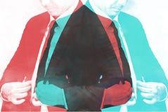 Abstrakcjonistyczni biznesmeni są ubierającym akwareli obrazem ilustracji