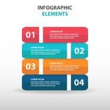 Abstrakcjonistyczni biznesowi Infographics elementy, prezentacja szablonu płaskiego projekta wektorowa ilustracja dla sieć projek Fotografia Royalty Free