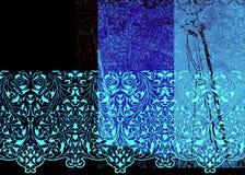 abstrakcjonistyczni blues wzory Zdjęcia Royalty Free