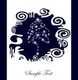 abstrakcjonistyczni boże narodzenia silhouette drzewa Fotografia Royalty Free
