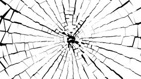 Abstrakcjonistyczni BW kawałki łamany biały szkło nad czernią Obrazy Stock