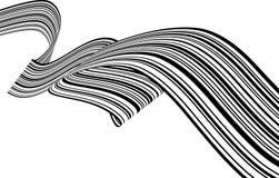Abstrakcjonistyczni czarny i biały lampasy bez przeszkód zginali tasiemkowego geometrical kształt zdjęcia royalty free