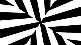 Abstrakcjonistyczni czarny i biały lampasy 3d odpłaca się bezszwową pętlę royalty ilustracja