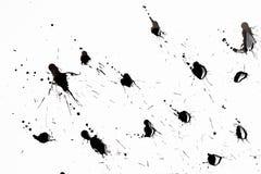 Abstrakcjonistyczni czerni pluśnięcia Obraz Stock