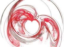 abstrakcjonistyczni czerwone hearths Obraz Stock