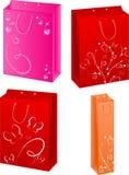 abstrakcjonistyczni cztery toreb projekta target252_1_ wektor Obrazy Royalty Free