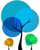 abstrakcjonistyczni drzewa Obrazy Stock