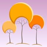 Abstrakcjonistyczni drzewa Ilustracja Wektor