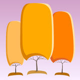Abstrakcjonistyczni drzewa Zdjęcie Royalty Free
