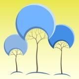 Abstrakcjonistyczni drzewa Royalty Ilustracja
