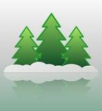 Abstrakcjonistyczni drzewa i śnieg. Fotografia Royalty Free