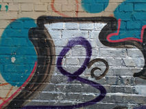 Abstrakcjonistyczni eleganccy graffiti na ścianie Obraz Stock