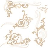 abstrakcjonistyczni elementy projektów Obrazy Royalty Free
