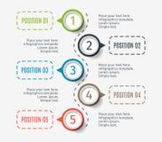 Abstrakcjonistyczni elementy wykres, diagram z 5 krokami, opcje lub części, Kreatywnie pojęcie dla infographic Biznesowi dane ilustracja wektor