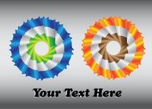 Abstrakcjonistyczni emblematy w dwa kolorach Fotografia Royalty Free