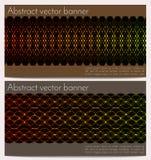 Abstrakcjonistyczni etniczni sztandary ustawiający Zdjęcia Stock
