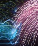 abstrakcjonistyczni fajerwerki Zdjęcia Royalty Free