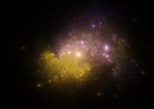 Abstrakcjonistyczni fractal ilustraci spojrzenia jak galaxies Zdjęcie Stock