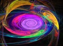 Abstrakcjonistyczni fractal wzory jak zawijas kolory Fotografia Stock