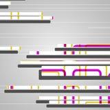 Abstrakcjonistyczni futurystyczni geometryczni kształty Zdjęcie Stock