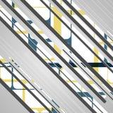 Abstrakcjonistyczni futurystyczni geometryczni kształty Zdjęcie Royalty Free
