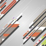 Abstrakcjonistyczni futurystyczni kształty Obrazy Stock