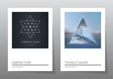 Abstrakcjonistyczni geometrii tła ustawiający A4 format, wektorowi szablony Fotografia Stock