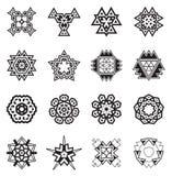 Abstrakcjonistyczni Geometryczni elementy, Deseniowy Etniczny aztek lub majowie wektor, Zdjęcie Royalty Free