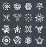 Abstrakcjonistyczni Geometryczni elementy, Deseniowy Etniczny aztek lub majowie wektor, Fotografia Royalty Free