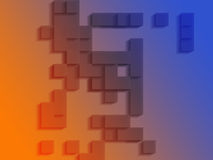 abstrakcjonistyczni geometryczni kształty Obrazy Stock