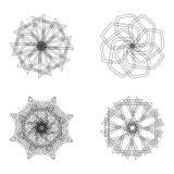 Abstrakcjonistyczni geometryczni kształty, futurystyczny falisty fractal w wektorze Zdjęcia Royalty Free
