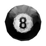 Abstrakcjonistyczni geometryczni poligonalni 8 balowych billiards. Zdjęcia Royalty Free
