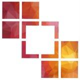 Abstrakcjonistyczni geometryczni tła ilustracji