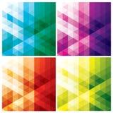 Abstrakcjonistyczni geometryczni tła z trójbokami Fotografia Royalty Free