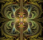 Abstrakcjonistyczni gotyków liście Fractal patern Piękny wizerunek Obraz Stock