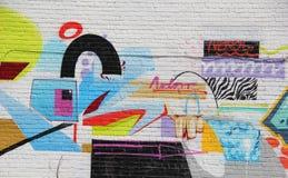 Abstrakcjonistyczni graffiti Fotografia Stock