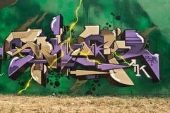 abstrakcjonistyczni graffiti Zdjęcia Royalty Free