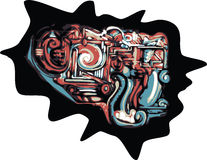 abstrakcjonistyczni graffiti royalty ilustracja