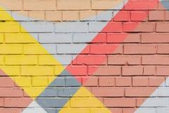 Abstrakcjonistyczni graffiti na ścianie, bardzo mały szczegół Uliczny sztuki zakończenie, elegancki wzór Może być pożytecznie dla zdjęcia royalty free
