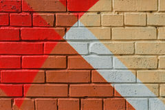 Abstrakcjonistyczni graffiti na ścianie, bardzo mały szczegół Uliczny sztuki zakończenie, elegancki wzór Może być pożytecznie dla Zdjęcia Stock