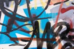 Abstrakcjonistyczni graffiti na ścianie Obraz Royalty Free
