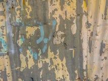 Abstrakcjonistyczni graffiti na galwanizującej panwiowej żelaznej metalu prześcieradła kipieli Zdjęcie Royalty Free