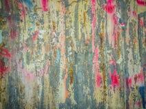 Abstrakcjonistyczni graffiti na galwanizującej panwiowej żelaznej metalu prześcieradła kipieli Zdjęcia Royalty Free