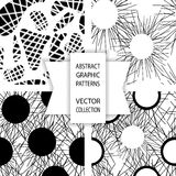 Abstrakcjonistyczni grafika wzory Fotografia Royalty Free