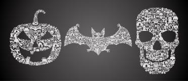 Abstrakcjonistyczni Halloween simbols Zdjęcia Royalty Free