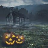 Abstrakcjonistyczni Halloweenowi tła royalty ilustracja