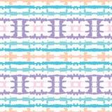 Abstrakcjonistyczni Horyzontalni Odzwierciedlający Pastelowi Barwioni barwidła Shibori lampasy na Białym Backrgound Wektorowym Be ilustracji